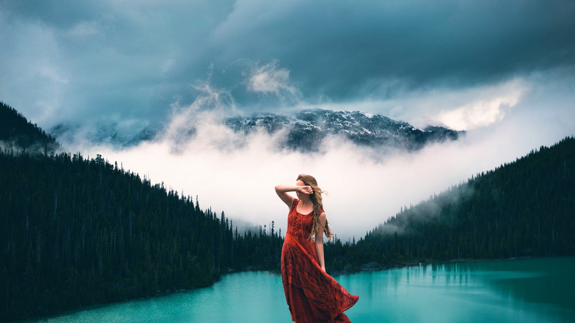 Wallpaper Sunlight Forest Mountains Women Outdoors