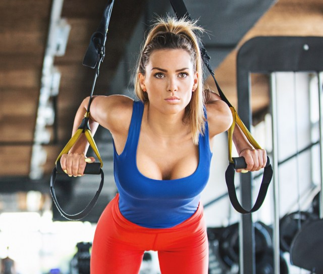 Working Out Women Boobs Gyms Fitness Model