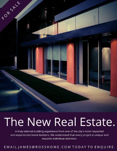 Cartel inmobiliario de agencia inmobiliaria