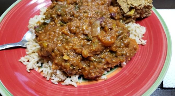 hearty veggie lentil chili