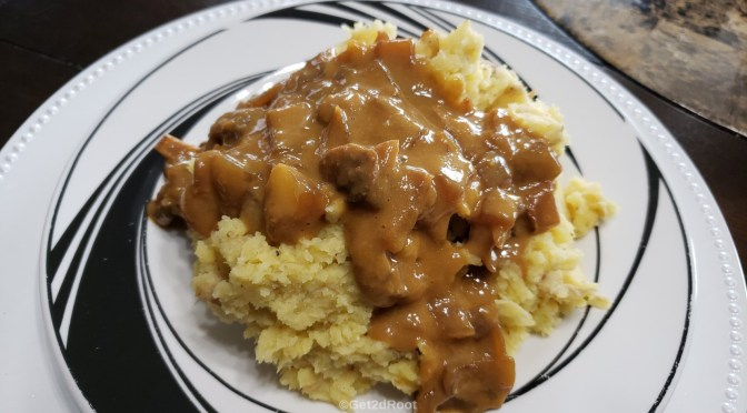 Mashed potatoes-n-gravy