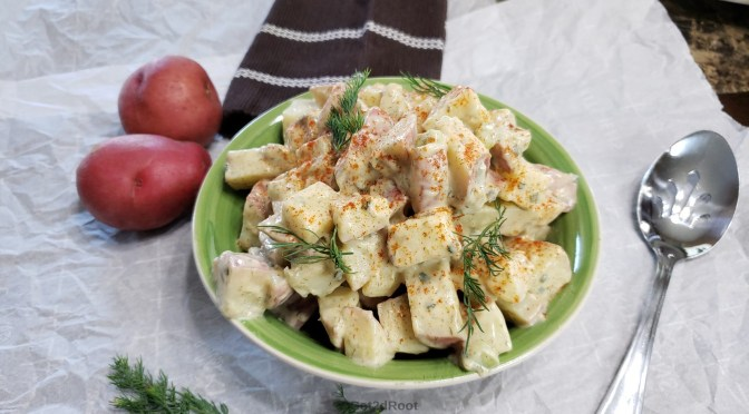 DILL POTATO SALAD WITH POTATO MAYO