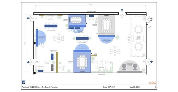 Facebook E3 – Space Layout and Drawing for Jack Morton Worldwide