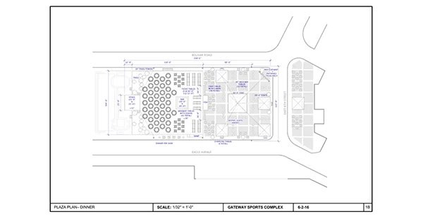 RNC Convention Plaza – SPACE LAYOUT AND DRAWING FOR EDDIE KNASIAK DESIGN