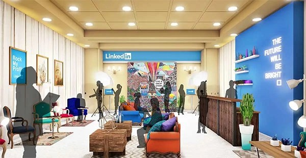 LinkedIn Lounge – Concept Rendering For Freeman Xp