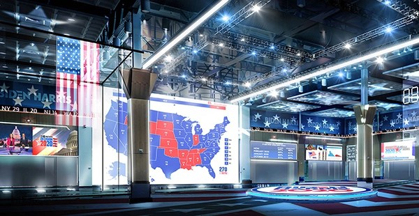 Biden/Harris Election Night – Concept Development And Rendering for Tribe Inc.
