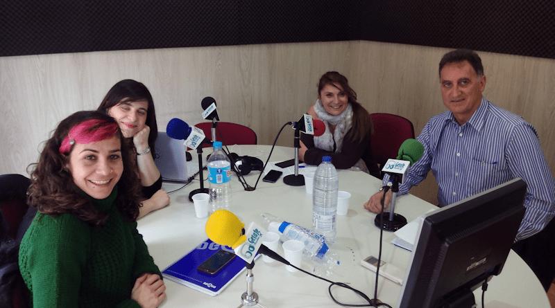 Vanessa Lillo, Mirene Presas, Monica Cobo y Herminio Vico. FOTO_GetafeRadio