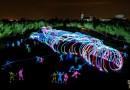 La fotografía más grande del mundo con la técnica de light painting se tomó en Getafe