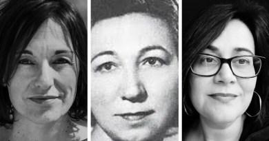 Julieta Valero, María Zambrano y Ángela Figuera Aymerich en La Herrería