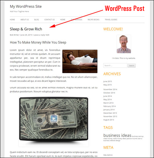 How To Create A WP Post