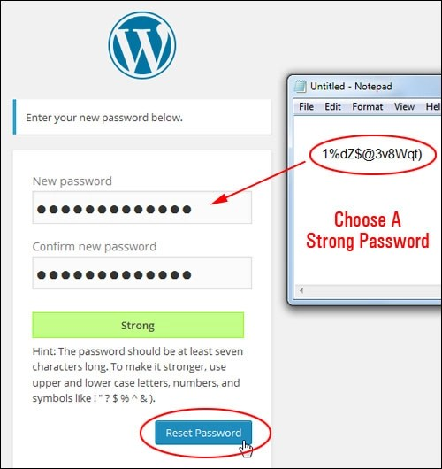 WordPress Password Recovery
