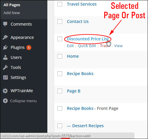 How To Find The Page Or Post ID In A WP Blog