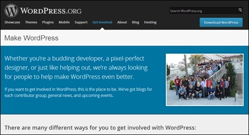 With WordPress, a huge community of web developers is responsible for keeping the core application code up-to-date.