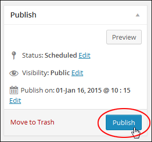 How To Schedule WP Posts For Publishing Later