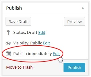 How To Schedule WP Posts For Publishing At A Later Date