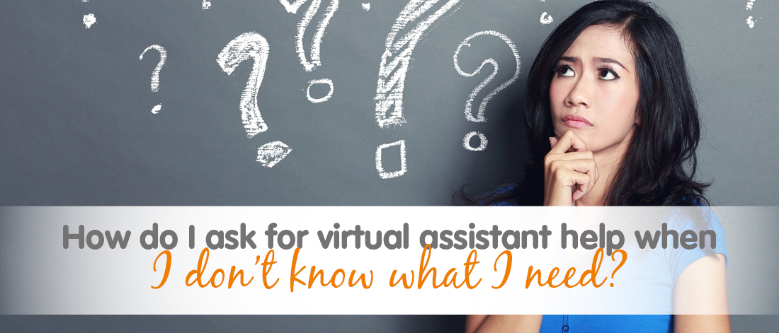 Confused looking woman needing help with Virtual Assistant