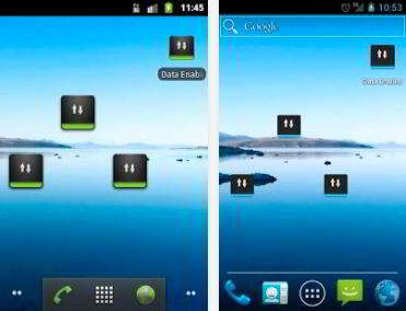Data Enabler Widget app for android