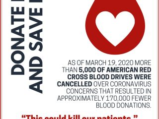 Red and White Bordered Simple Blood Day Poster