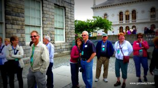 In line to see the book of Kells