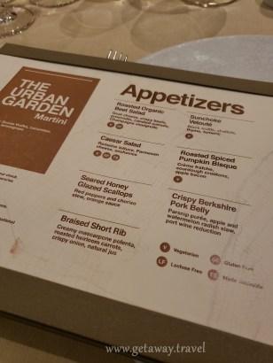 150 Central Park menu