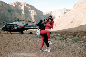 becky van dijk and friend in the grand canyon