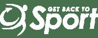 White get back to sport logo