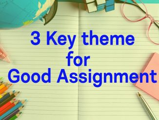 3 key theme for good assignment