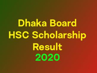dhaka board scholarship 2020