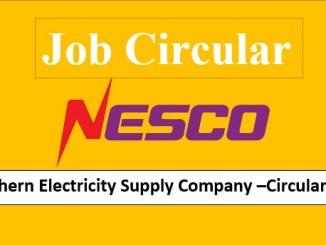 Nesco job circular 2021