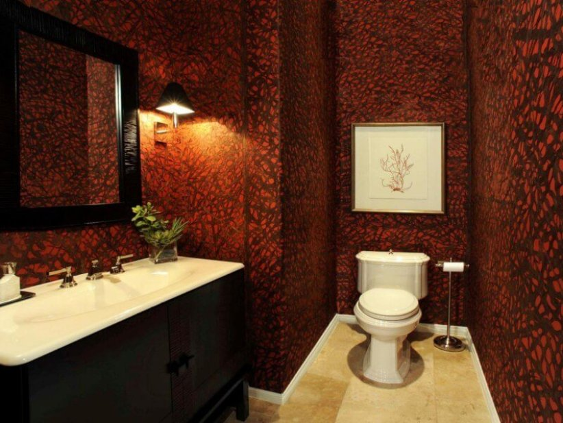 Awesome apartment half bathroom decorating ideas #halfbathroomideas #smallbathroomideas #bathroomdesignideas