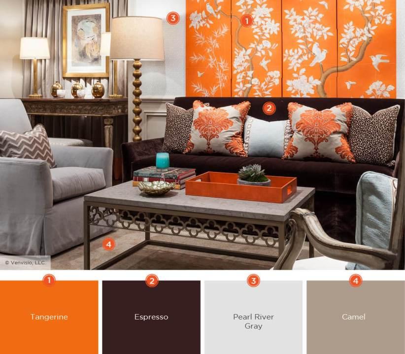 Trending living room color palette #livingroomcolorschemes #livingroomcolorcombination