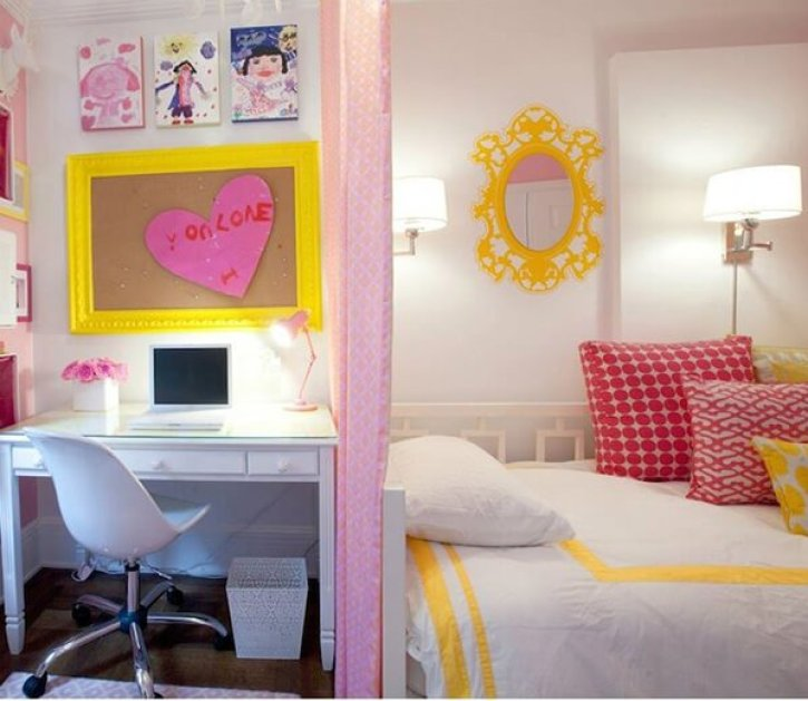 Colorful kids girl room #cutebedroomideas #bedroomdesignideas #bedroomdecoratingideas