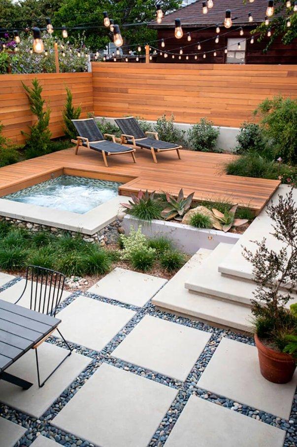 Amazing backyard landscape garden design ideas #backyardlandscapedesign #backyardlandscapingidea #backyardlandscapedesignideas