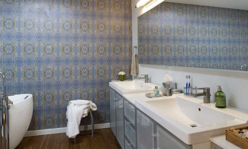 Nice decorative bathroom tile #bathroomtileideas #bathroomtileremodel