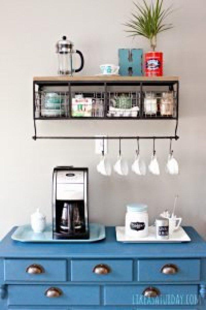 Sensational coffee kitchen decor #coffeestationideas #homecoffeestation #coffeebar