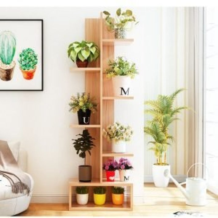 Stunning outdoor plant stands for multiple plants #diyplantstandideas #plantstandideas #plantstand