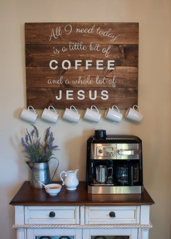 Striking coffee station #coffeestationideas #homecoffeestation #coffeebar