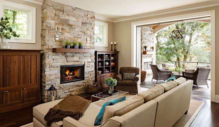 Sensational small corner gas fireplace ideas #cornerfireplaceideas #livingroomfireplace #cornerfireplace