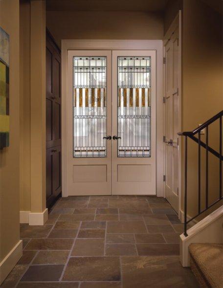 Amazing interior door with window #interiordoordesign #woodendoordesign