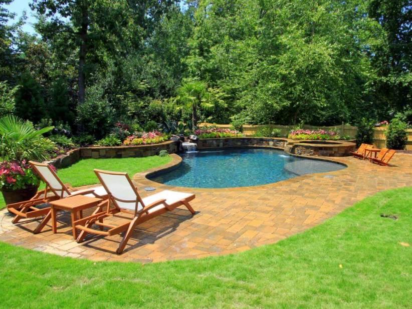 Nice swimming pool design and build #swimmingpooldesign #pooldeckandpatiodesigns #smallbackyardpools