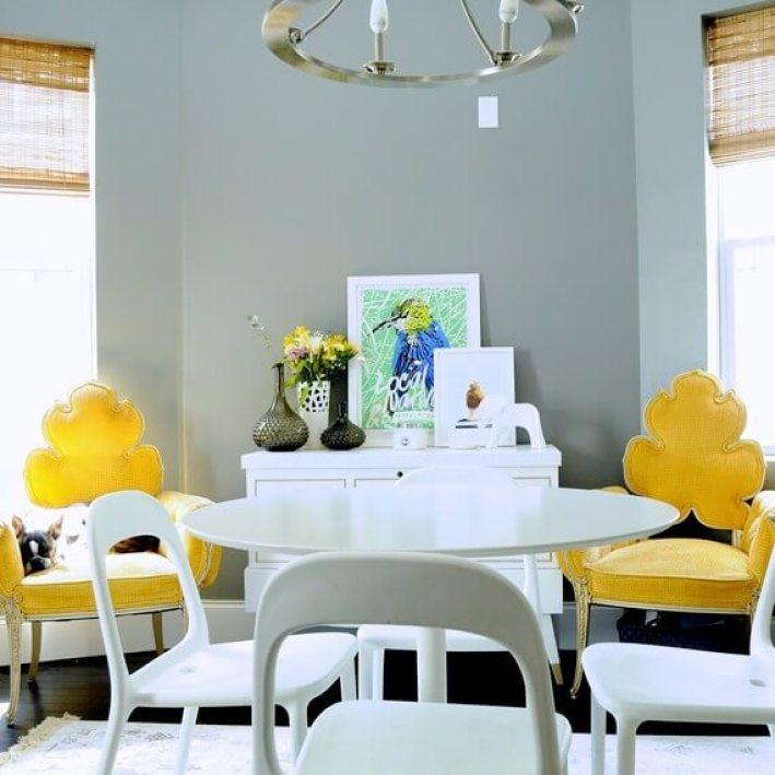 Beautiful blue dining room decor #diningroompaintcolors #diningroompaintideas