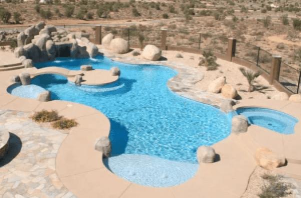 Best swimming pool with landscape design #swimmingpooldesign #pooldeckandpatiodesigns #smallbackyardpools