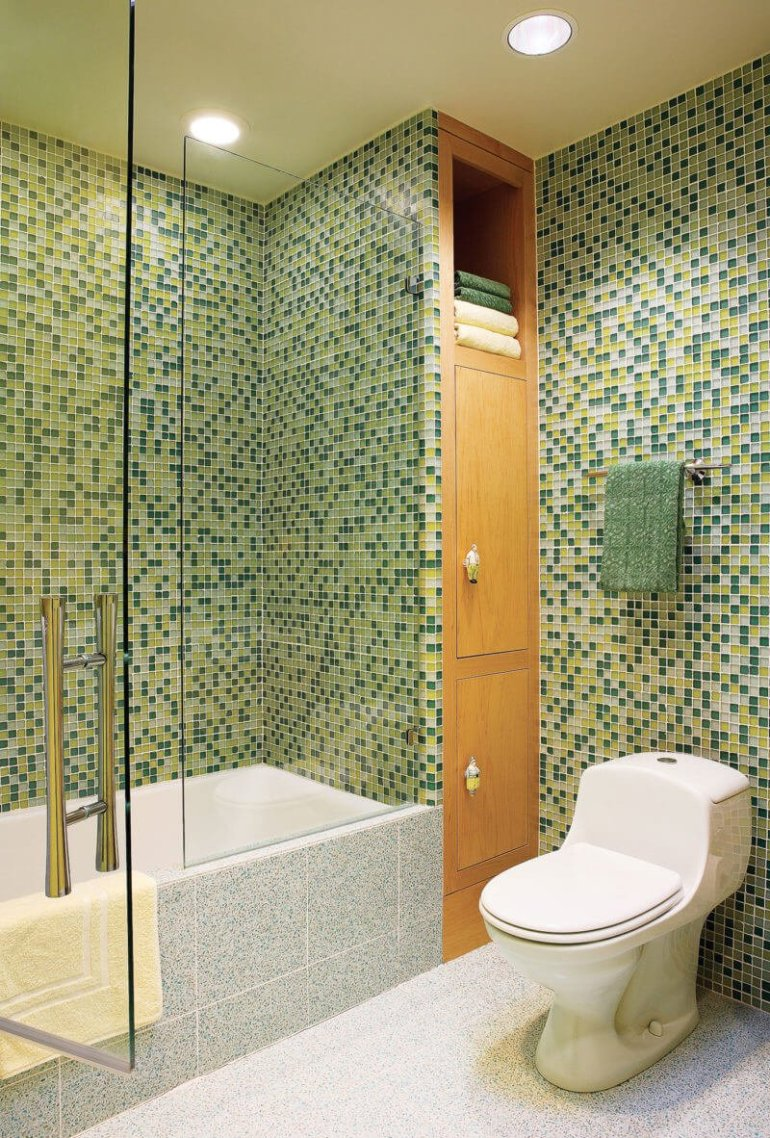 Awesome bathroom mosaic tile ideas #bathroomtileideas #bathroomtileremodel