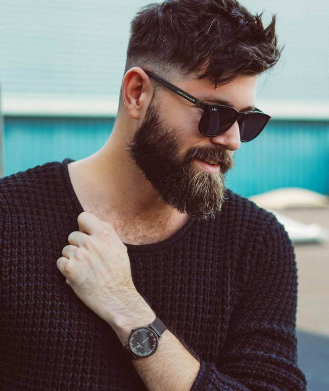 Glorious hairstyle for men with beard #beardstyles #beardstylemen #haircut #menstyle