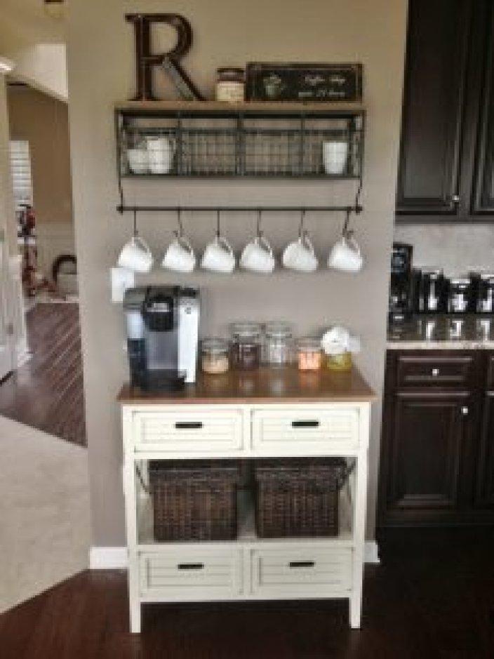 Unforgettable coffee station ideas in kitchen #coffeestationideas #homecoffeestation #coffeebar
