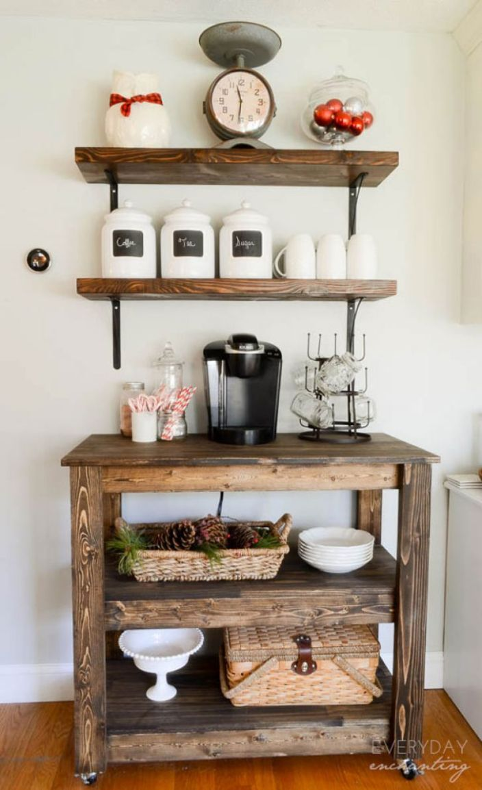 Fabulous countertop coffee station ideas #coffeestationideas #homecoffeestation #coffeebar