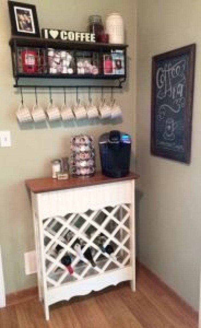 Unbelievable kitchen coffee bar #coffeestationideas #homecoffeestation #coffeebar