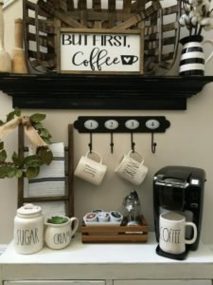 Delight bar cabinet ideas #coffeestationideas #homecoffeestation #coffeebar