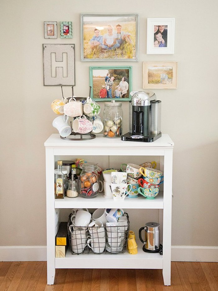 Astounding rustic coffee station ideas #coffeestationideas #homecoffeestation #coffeebar