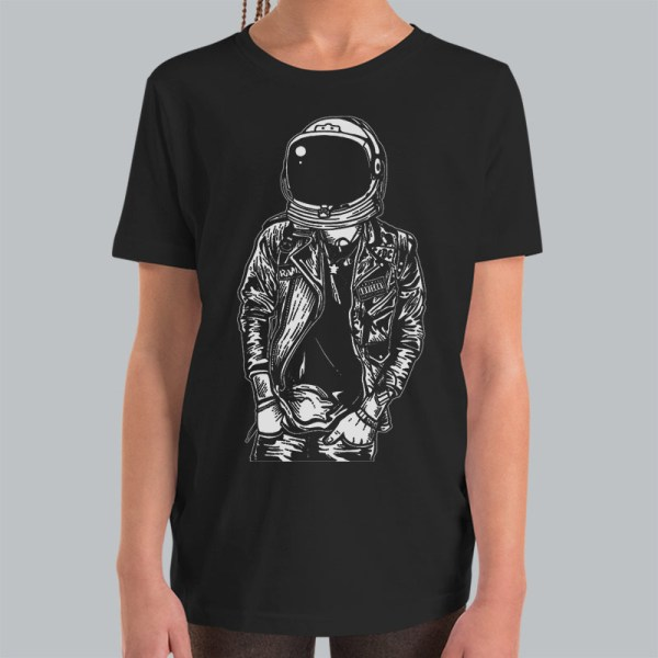 Astronaut Pose Youth Kids Space Tshirt — Get Bent Tees
